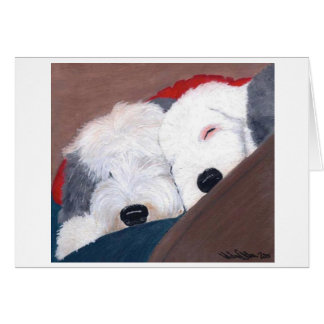 Old English Sheepdog note card