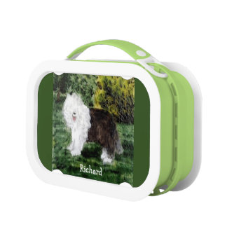 Old English Sheepdog Painting Lunch Box