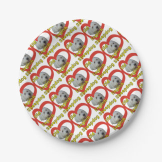 Old English Sheepdog Paper Plate