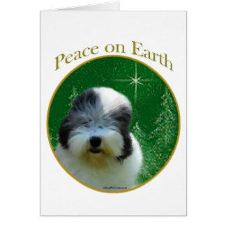 Old English Sheepdog Peace Card