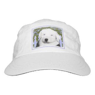 Old English Sheepdog Puppy Painting - Dog Art Hat