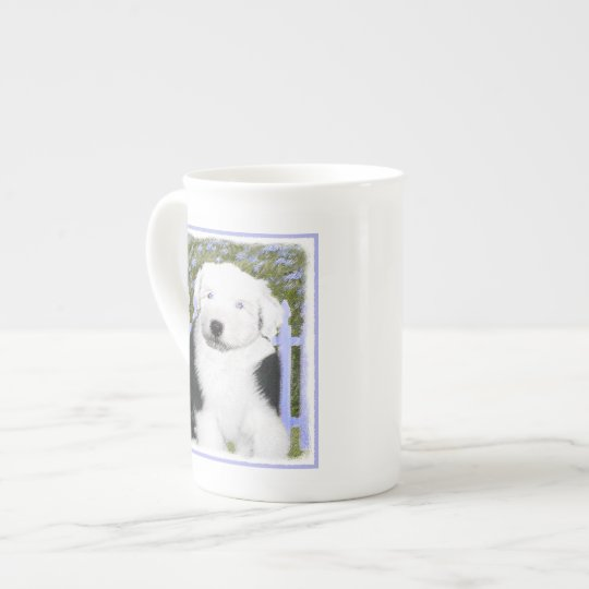 Old English Sheepdog Puppy Painting - Dog Art Tea Cup