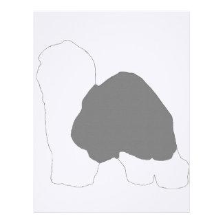 old english sheepdog silo color personalized letterhead