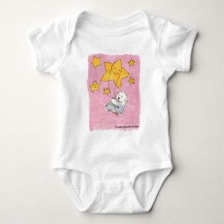 Old English Sheepdog Star Baby Bodysuit