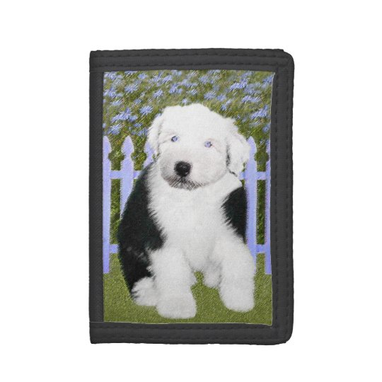Old English Sheepdog Trifold Wallet