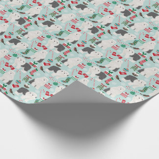 Old English Sheepdogs Christmas wrapping paper