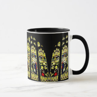 Old English stained glass church window mug