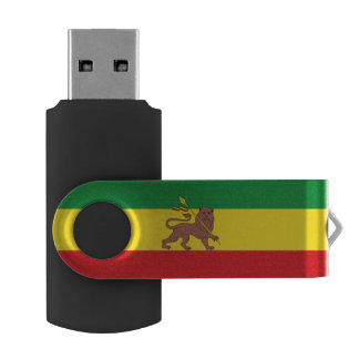 Old Ethiopian flag USB Flash Drive