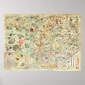 Old Europe Fun Map Print