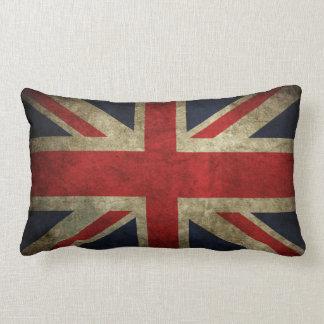 Old Faded UK British Union Jack Flag Pillow