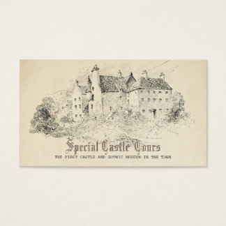 Old Fairy Tale Castle Vintage Charm Enchanted Business Card