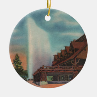 Old Faithful Ceramic Ornament