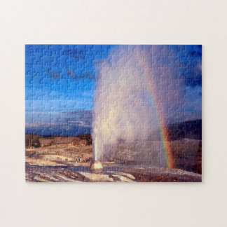 Old Faithful Gyser Yellowstone. Jigsaw Puzzle