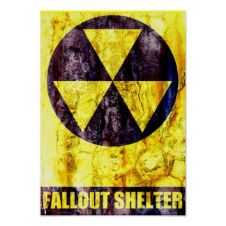 Old Fallout Shelter Print