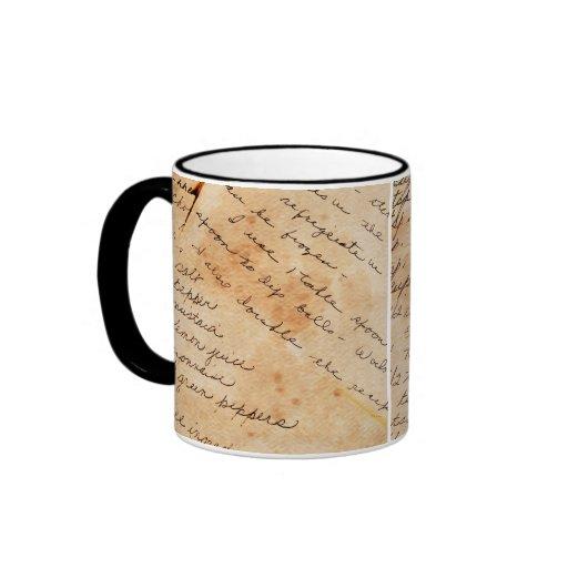 old family recipes mug