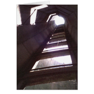 Old Farm Buildings Barn Silo Ladder Photo Card