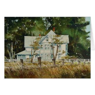 Old Farm House Card
