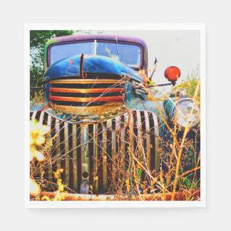 old farm truck napkins