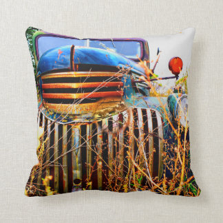 old farm truck pillow
