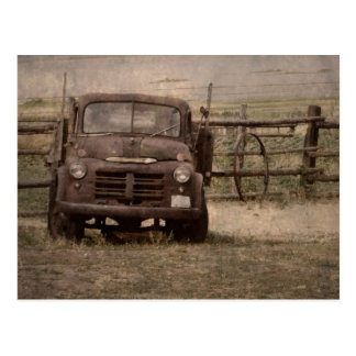 Old Farm Truck Postcard