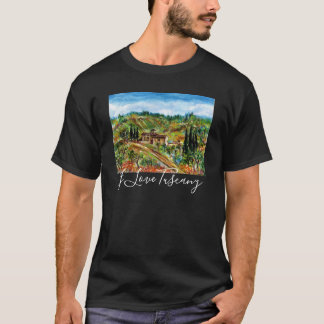 OLD FARMHOUSE AND OLIVE TREES IN TUSCANY LANDSCAPE T-Shirt