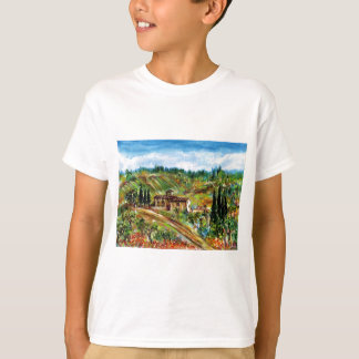 OLD FARMHOUSE,OLIVE TREES IN TUSCANY LANDSCAPE T-Shirt