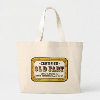Old Fart Jumbo Tote Bag