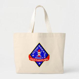 Old Farts Battalion Slow Shaky Deaf Large Tote Bag
