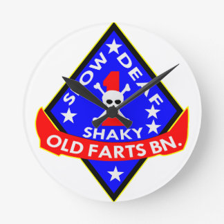 Old Farts Battalion Slow Shaky Deaf Wall Clocks
