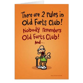 Old Farts Club Card