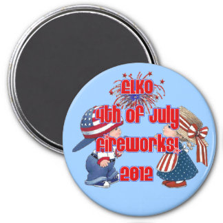 Old-fashion 4th of July Elko Magnet