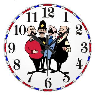 Old Fashion Barbershop Quartet Trois Large Clock