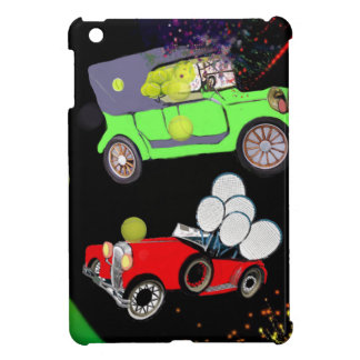 Old fashion car plenty of tennis balls and rakets. iPad mini covers