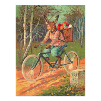 Old Fashion Easter Bunny Postcard