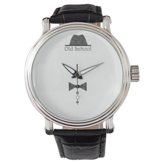 Old Fashion Elegant Gentleman Simple Black Chic Watch