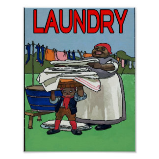 Old Fashion Laundry Poster