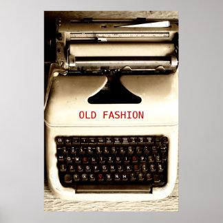 Old Fashion Love - Typewriter Machine Poster