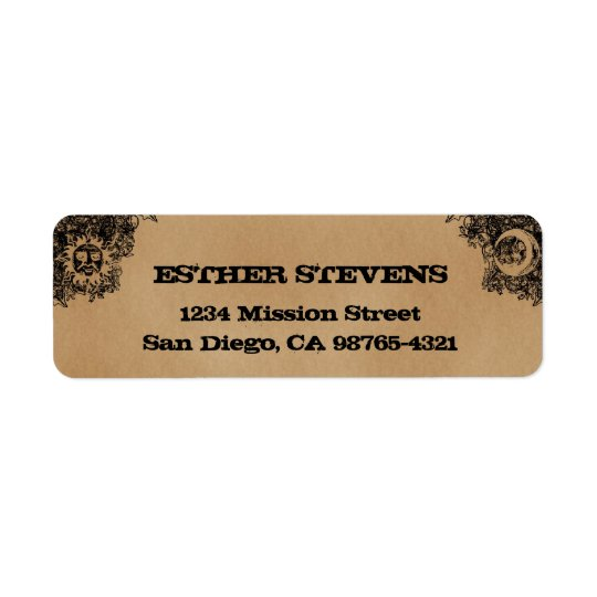 Old Fashion Ouija Board Halloween return address
