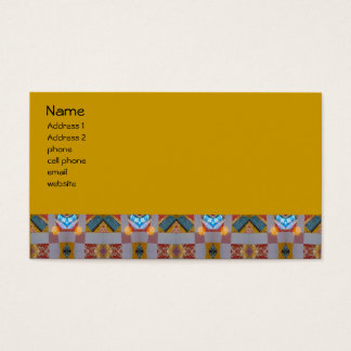 old fashion patchwork business card