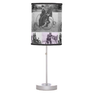 old fashion pictures white black lamp shade