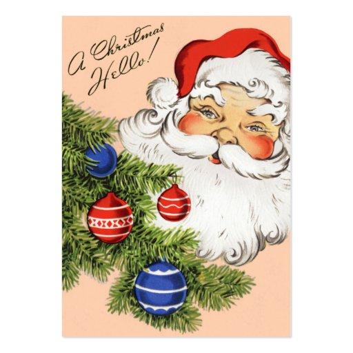 Old Fashion Santa Christmas Name Tags Business Cards