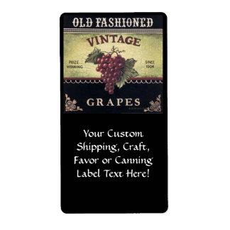 Old Fashion Vintage Grapes, Purple and Black Wine
