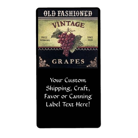 Old Fashion Vintage Grapes, Purple and Black Wine