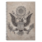 Old Fashioned American Coat of Arms Notebook