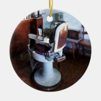 Old Fashioned Barber Chair Ceramic Ornament