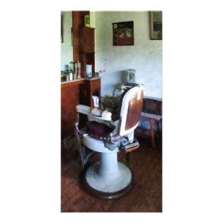 Old-Fashioned Barber Chair Photo Greeting Card