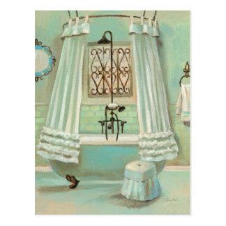 Old Fashioned Bathroom Postcard