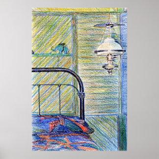 Old-Fashioned Bedroom Fine Art Print