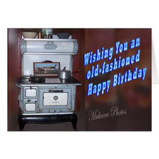 Old Fashioned Birthday Card