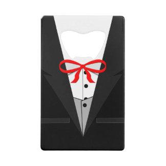 Old Fashioned Black Tuxedo Credit Card Bottle Opener